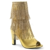 QUEEN-100 Gold Faux Leather
